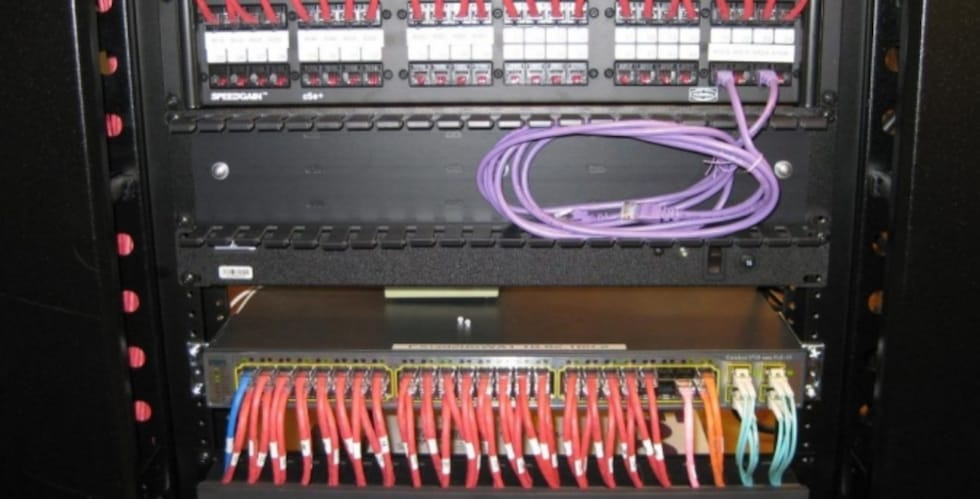 Network-switch-and-patch-panel